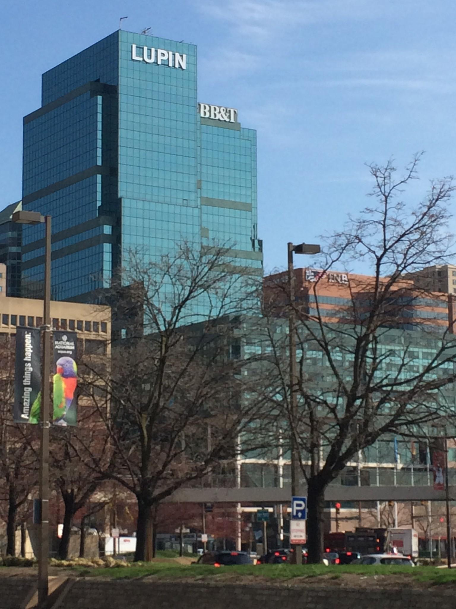 Lupin Name On Baltimore Building Marks Drug Company S