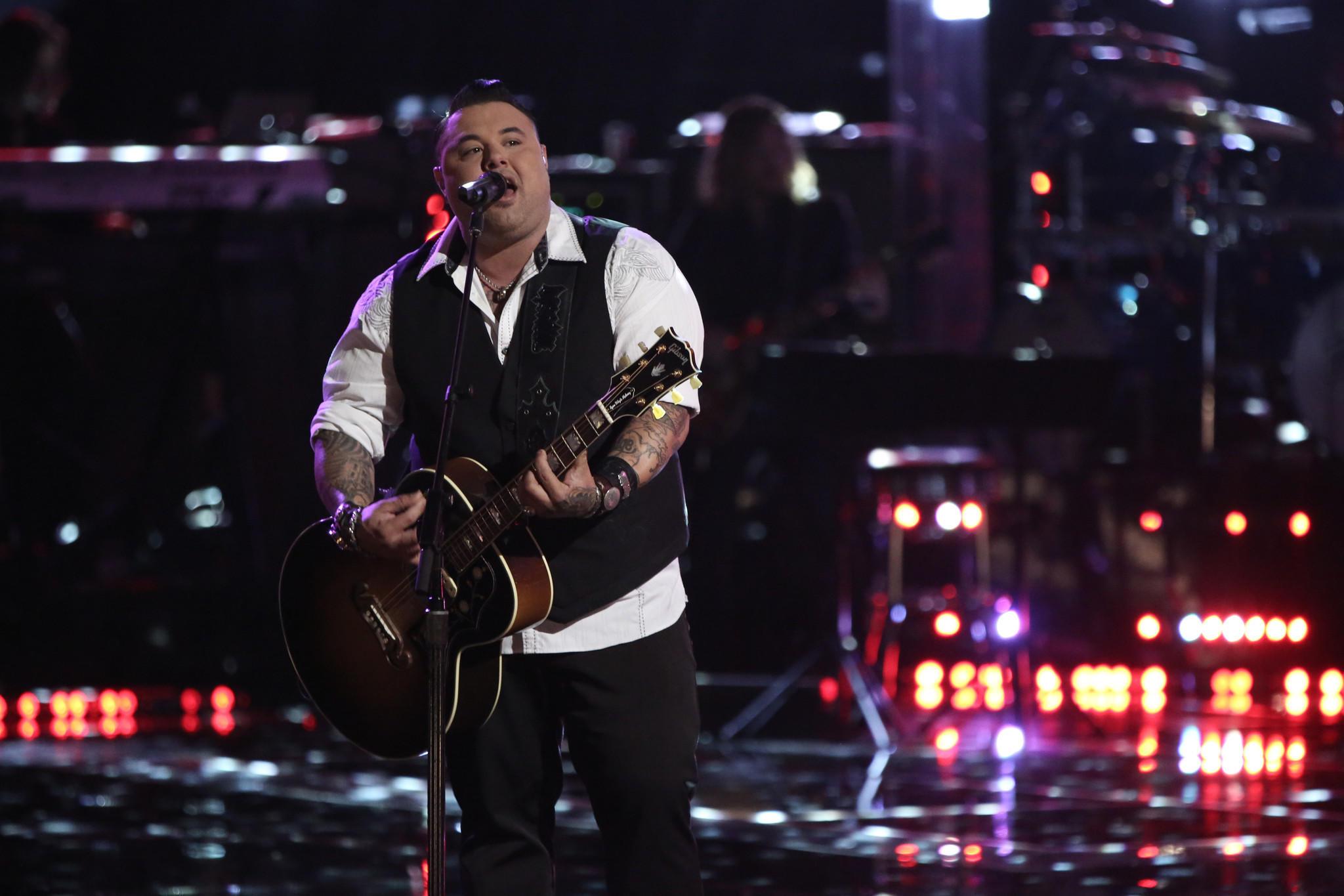 "Ryan White Maloney performs on NBC's ""The Voice."""