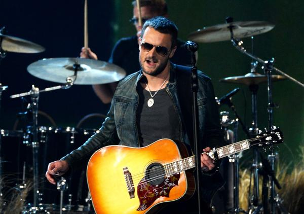 Eric Church, seen performing Sunday at the Academy of Country Music Awards, announced Wednesday that he'll tour North America this fall with Dwight Yoakam.