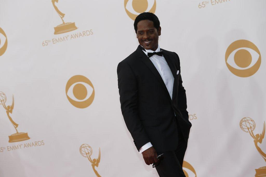 Blair Underwood arrives at the 2013 Emmy Awards at the Nokia Theatre.