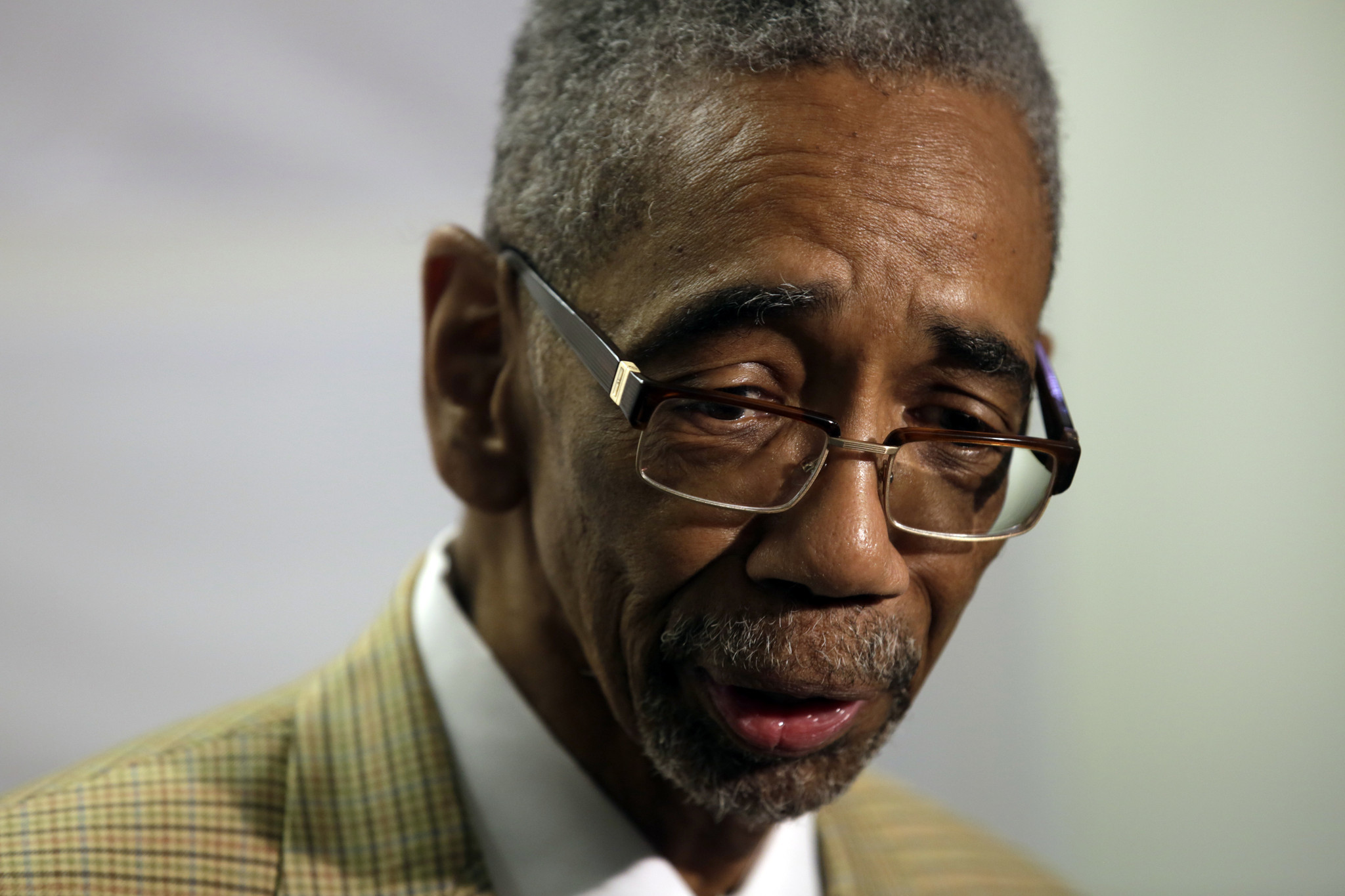 U.S. Rep Bobby Rush at a news conference last year. A House ethics panel announced Friday it is continuing its investigation of the legislator.