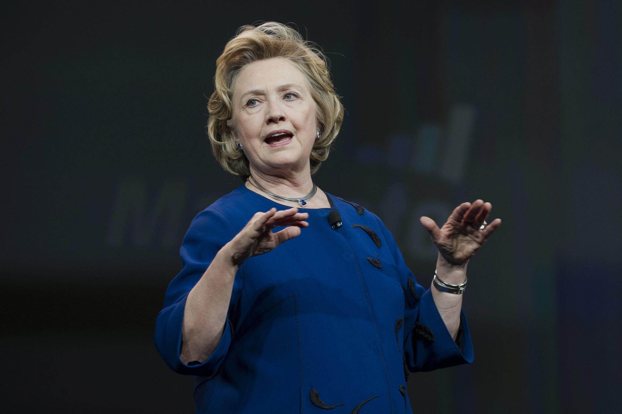 Hillary Rodham Clinton speaks in San Francisco on Tuesday.