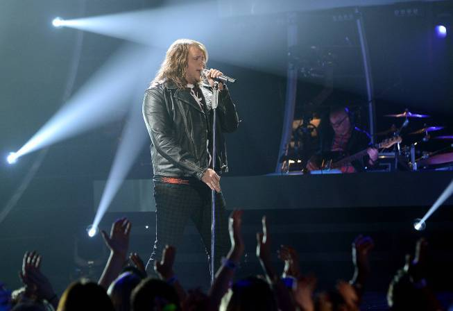 "Caleb Johnson sings Journey's ""Faithfully"" on ""American Idol."""
