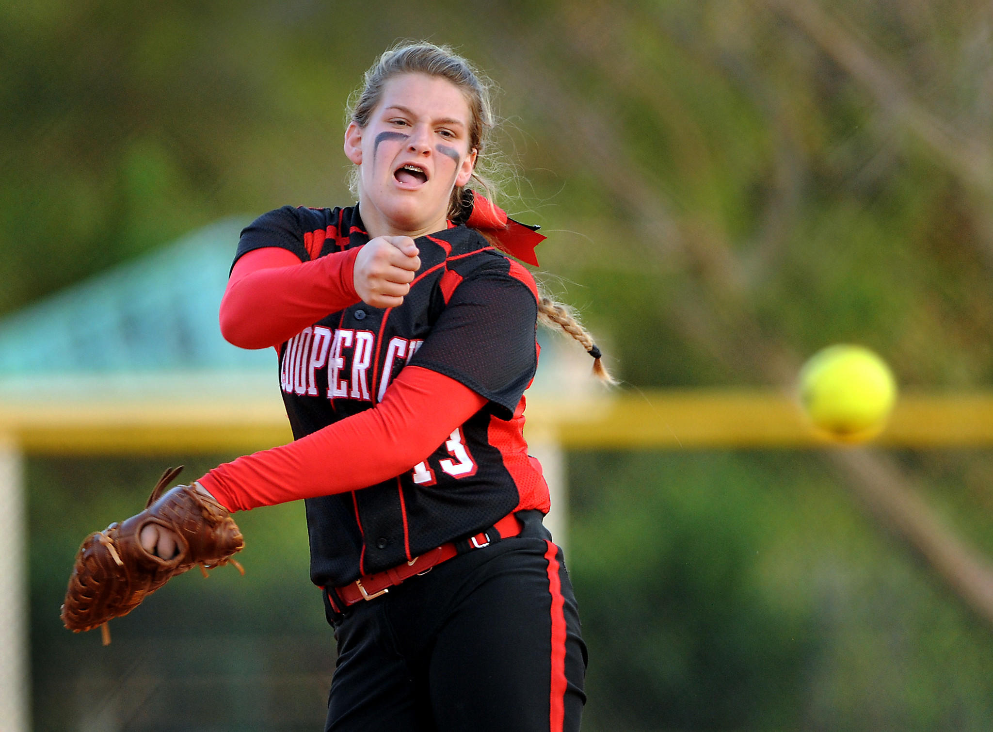 Cooper City pitcher Kara Kara Lokeinsky leads her team to 4-0 victory over Pines Charter Wednesday.