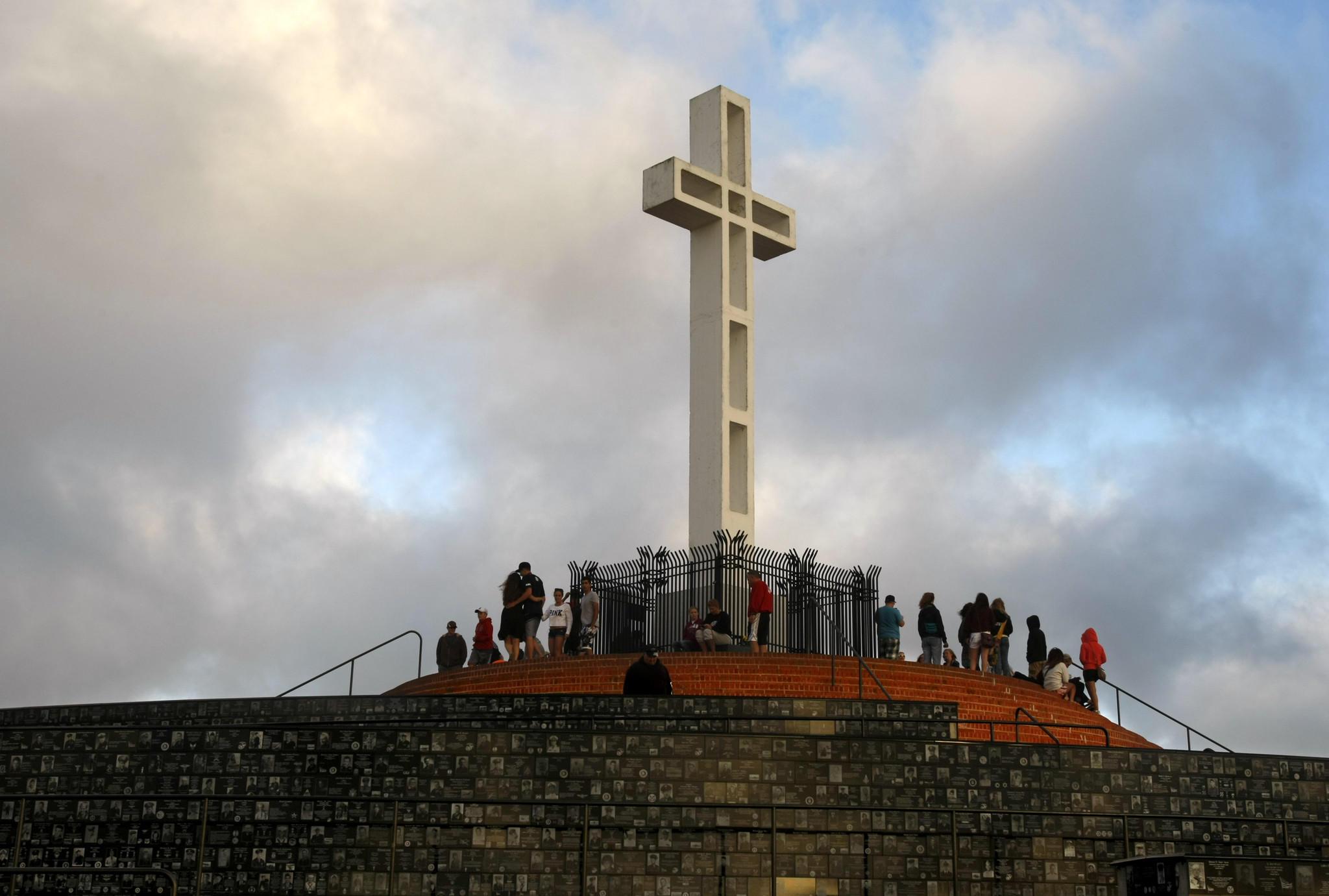 The cross atop Mt. Soledad in San Diego.