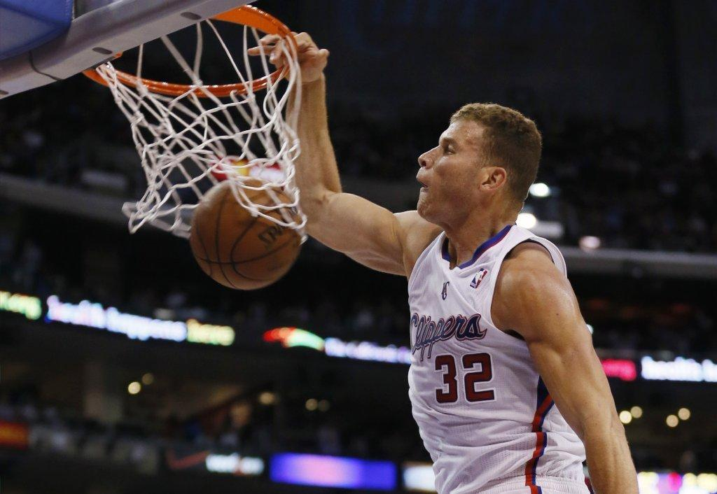 Clippers forward Blake Griffin dunks against the Oklahoma City Thunder on Wednesday.