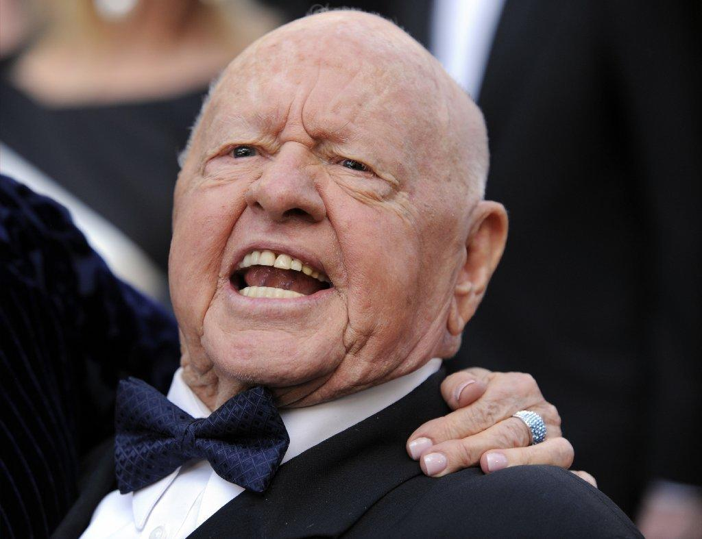 Mickey Rooney attends the 82nd Academy Awards on March 7.
