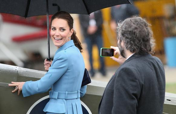 "Catherine is the subject of a smartphone photo taken by ""Lord of the Rings"" director Peter Jackson during a visit to Omaka Aviation Heritage Center in Blenheim, New Zealand."