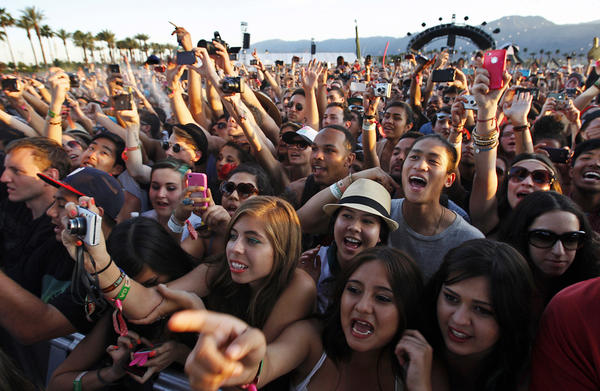 A scene from the 2012 Coachella festival. Follow along as we cover this year's event in real time.