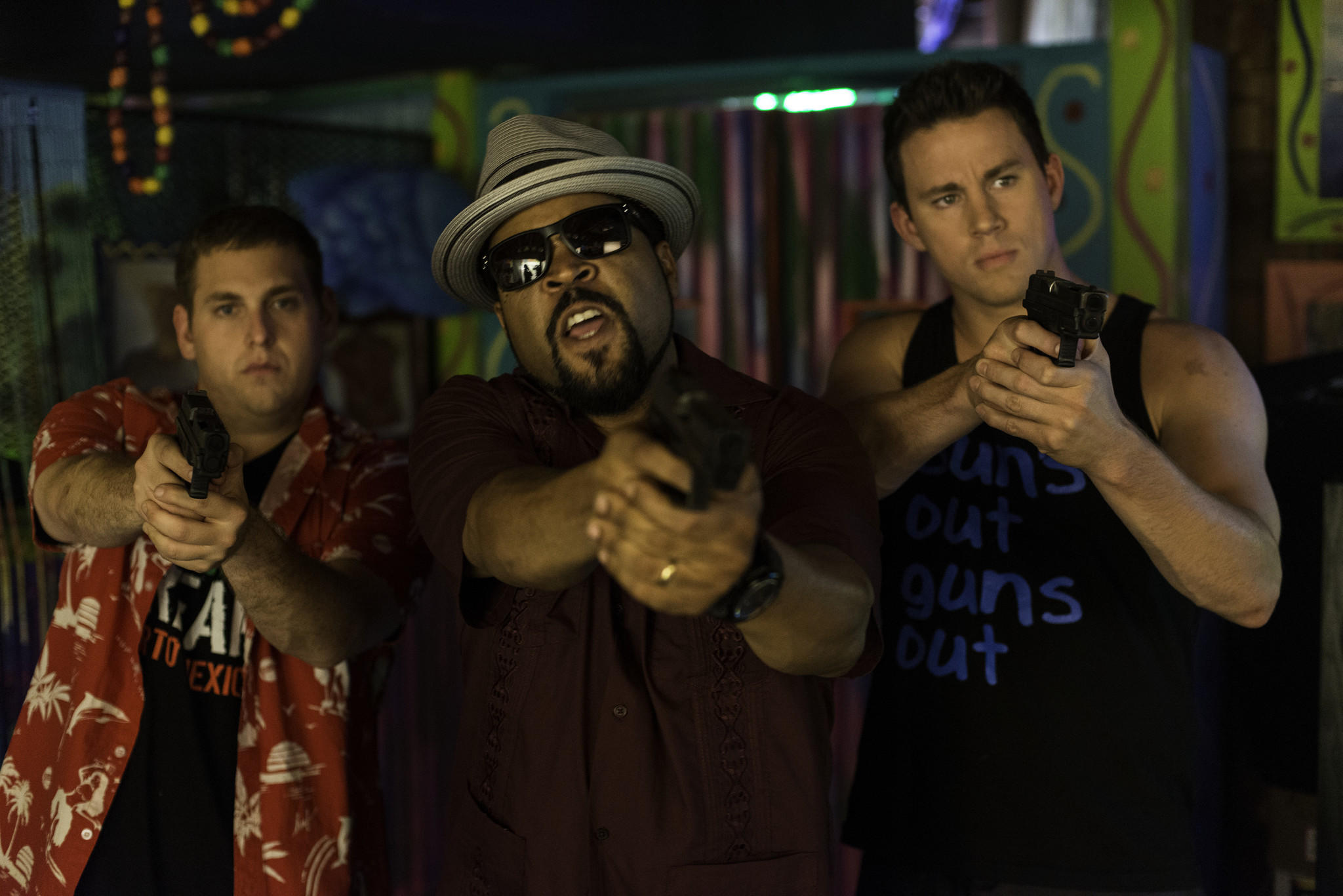 "Jonah Hill, Ice Cube and Channing Tatum appear in a scene from ""22 Jump Street."""