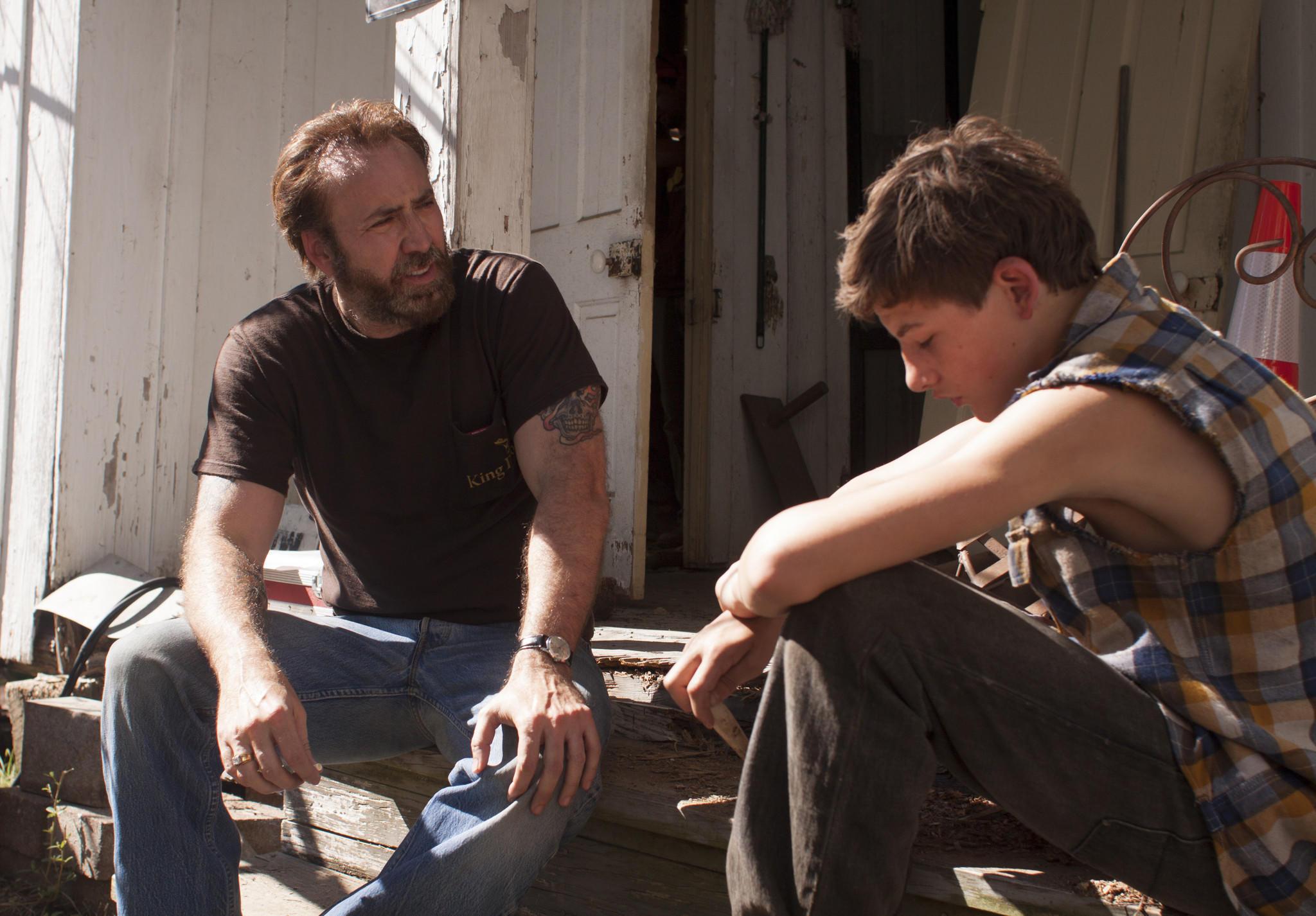 "Nicolas Cage, left, and Tye Sheridan in David Gordon Green's movie ""Joe."""