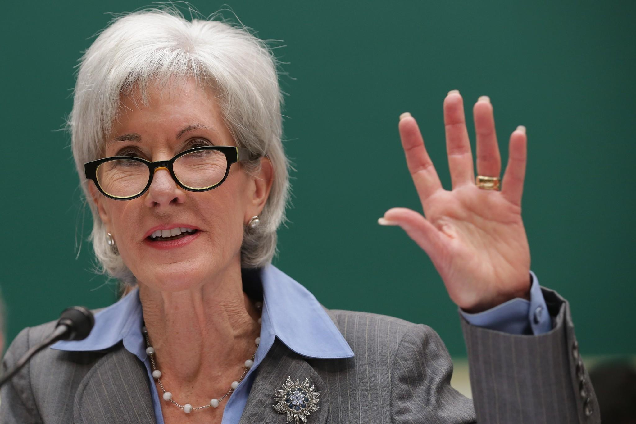 Health and Human Services Secretary Kathleen Sebelius testifies before the House Energy and Commerce Committee.
