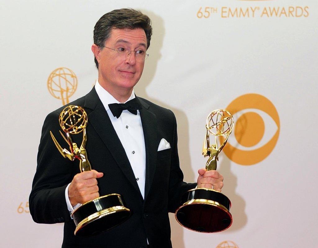 CBS hopes Stephen Colbert wins some Emmys when he takes over for David Letterman.
