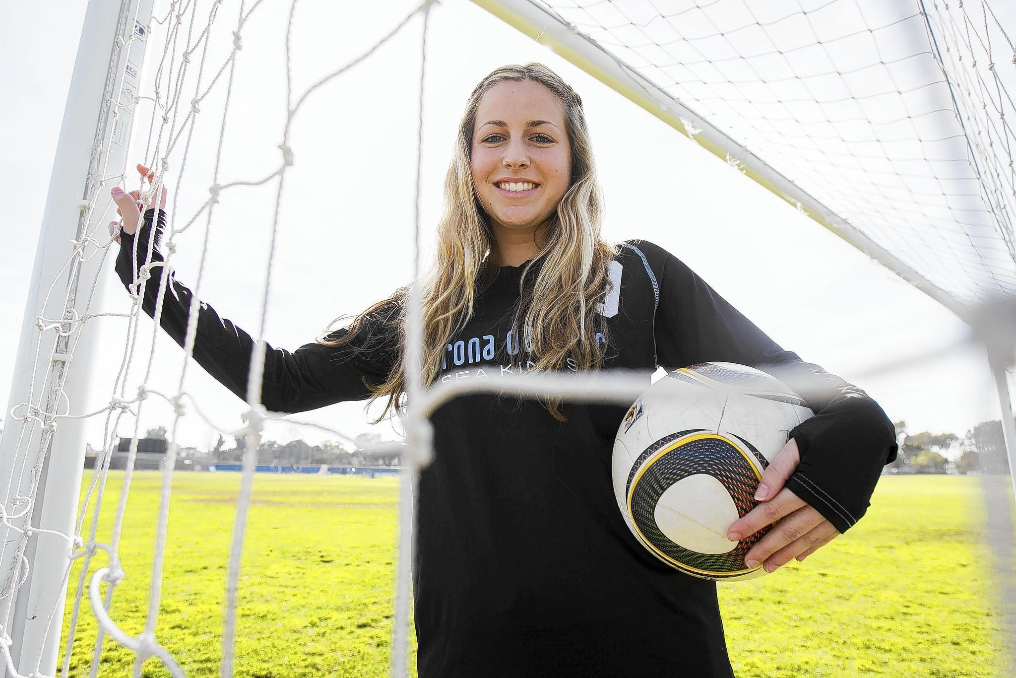 Corona del Mar High's Shelby Brown is the 2013-14 Daily Pilot Newport-Mesa Player of the Year for girls' soccer.