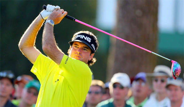 Bubba Watson finished the first round of the Masters at Augusta National Country Club with a three-under-par 69 in a three-way tie for third place.