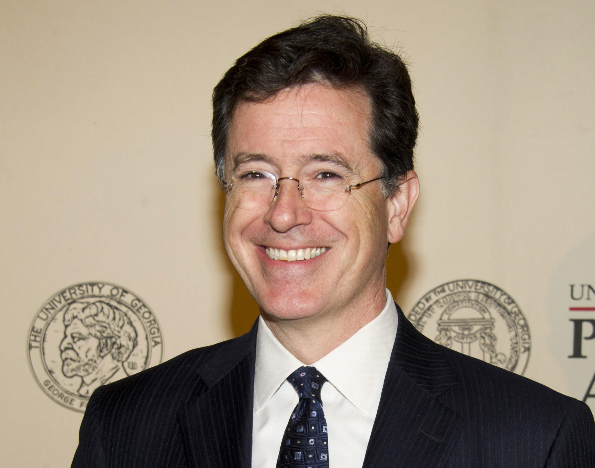 "Stephen Colbert paid tribute to departing ""Late Show"" host David Letterman on his show Thursday, with a coy reference to his own appointment to succeed him. ""I gotta tell you, I do not envy whoever they try to put in that chair,"" Colbert said."
