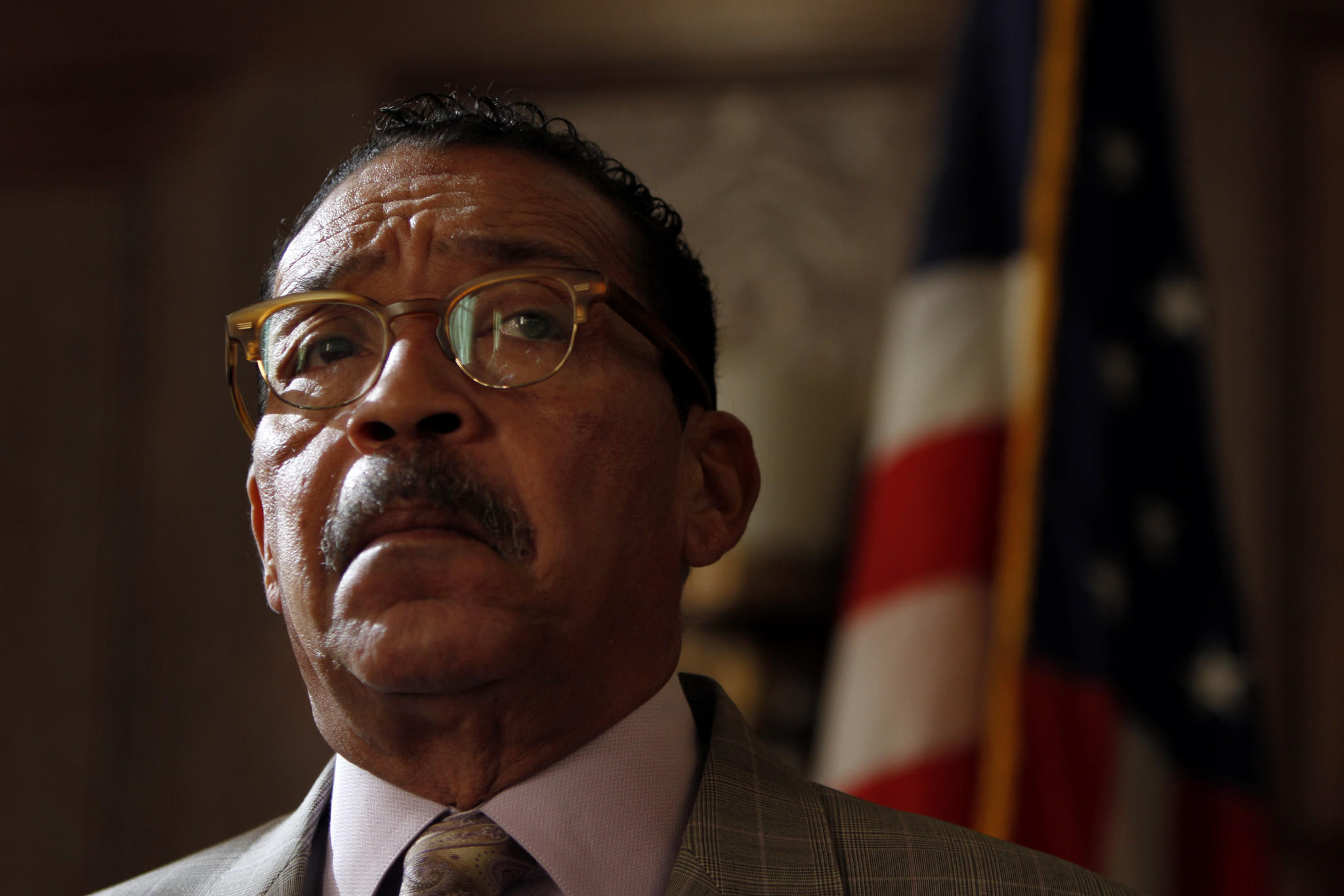 City Council President Herb Wesson during a press conference at City Hall in Los Angeles on Jan. 14.
