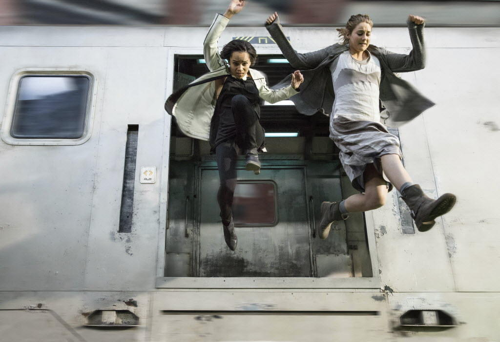 "Zoe Kravitz and Shailene Woodley star in ""Divergent."""