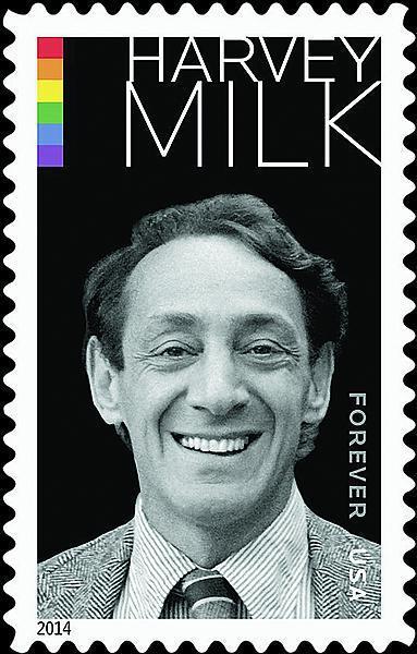 Stamp commemorating Harvey Milk