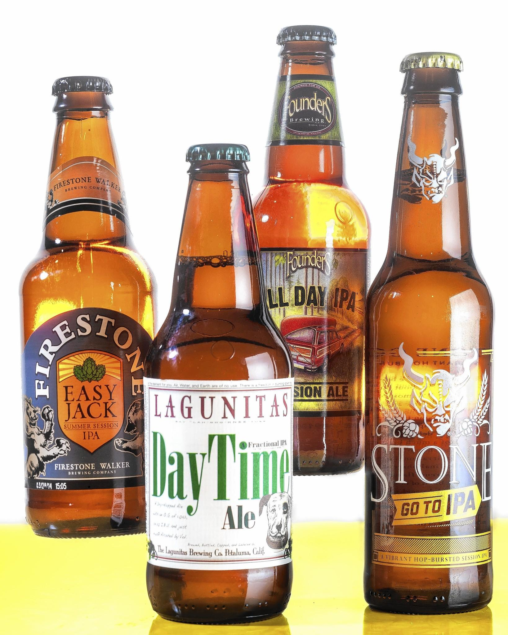 Lagunitas, Day Time Ale; Founder's All Day IPA; and Stone's Go To IPA; and Firestone's Easy Jack