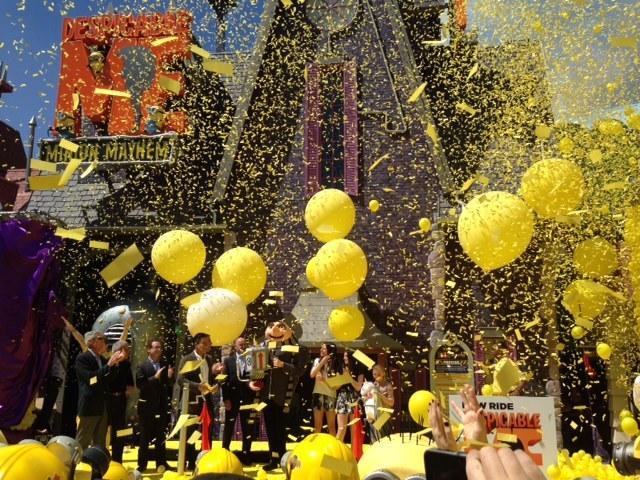Despicable Me Minion Mayhem will open to the public Saturday.