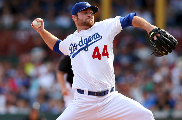 Dodgers reliever Chris Withrow has given up only one hit and no runs in six innings this season.