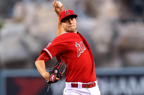 Tyler Skaggs is the only Angels starter to pitch at least seven innings in each of his first two starts this season.