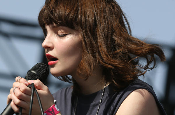Chvrches lead singer Lauren Mayberry   performs on the second day of the Coachella festival in Indio.