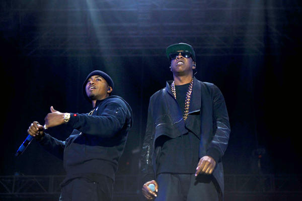 Nas was joined by Jay-Z on the outdoor stage Saturday at the Coachella Valley Music and Arts Festival in Indio.