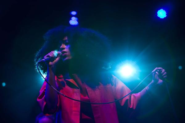 Solange performed on the Gobi stage at the Coachella Valley Music and Arts Festival in Indio on Saturday.