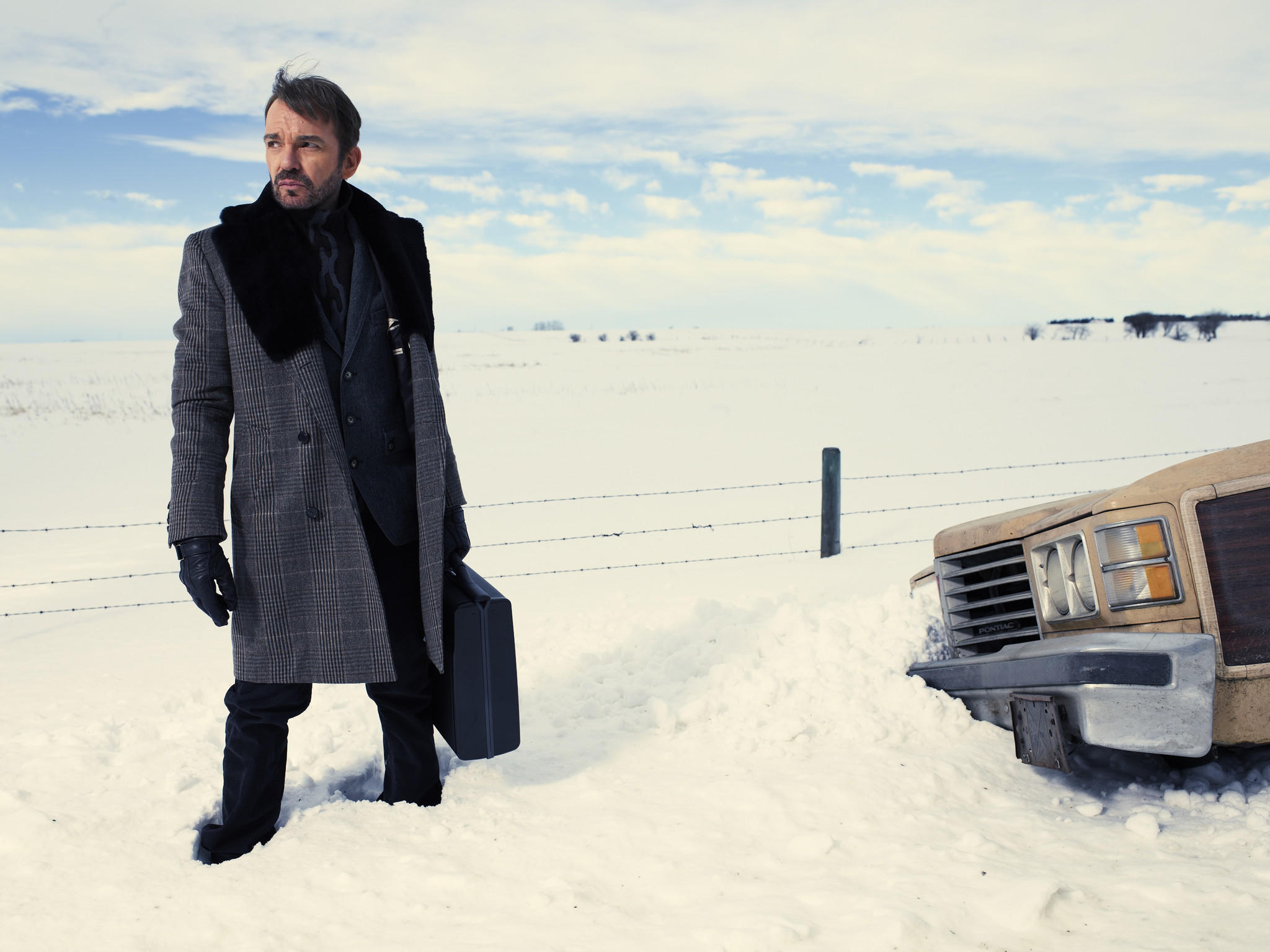 "Billy Bob Thornton plays contract killer Lorne Malvo in FX's ""Fargo."""