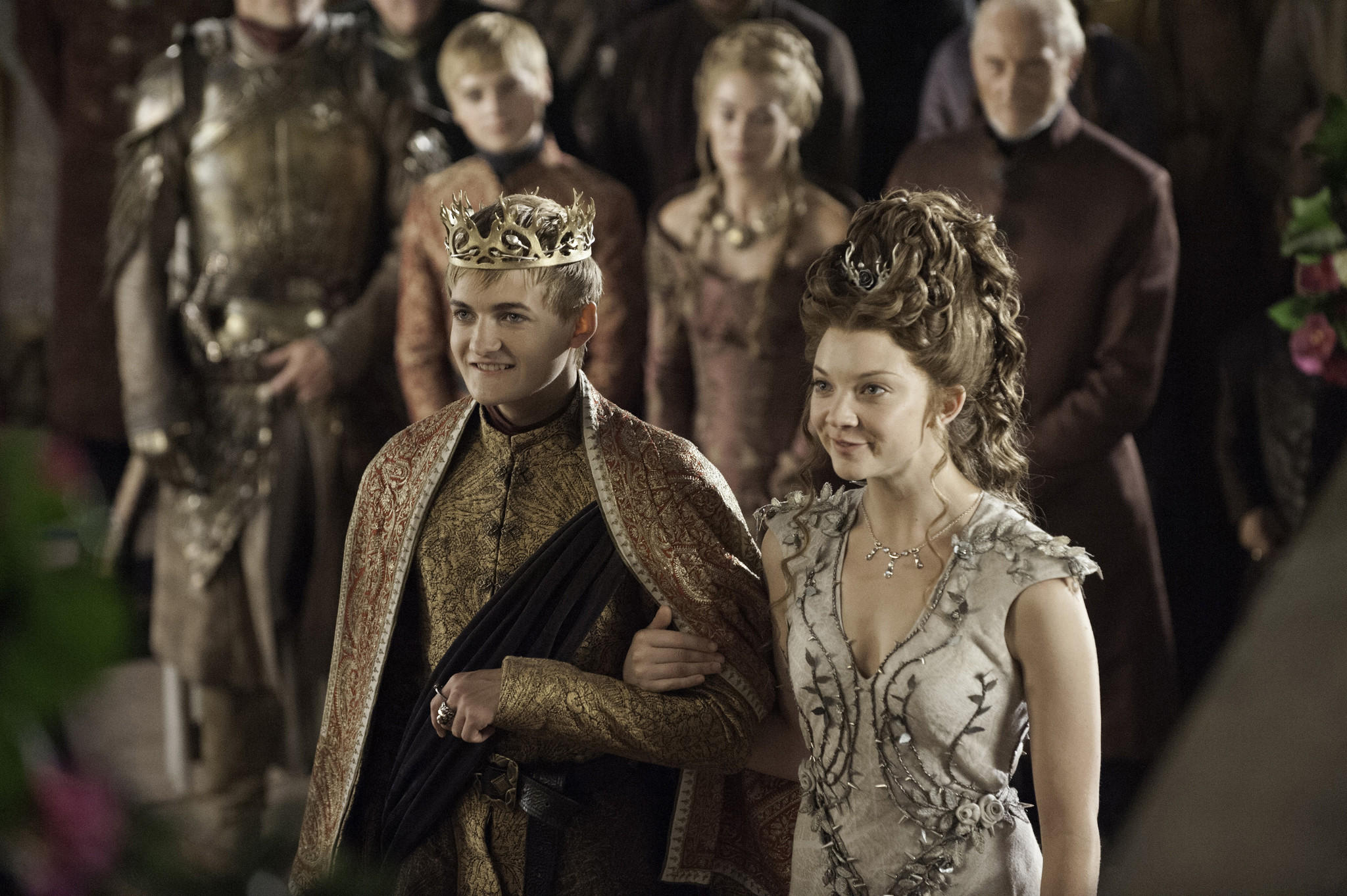 "King Joffrey (Jack Gleeson) marries politically ambitious yet compassionate Margaery Tyrell (Natalie Dormer) on ""Game of Thrones."""