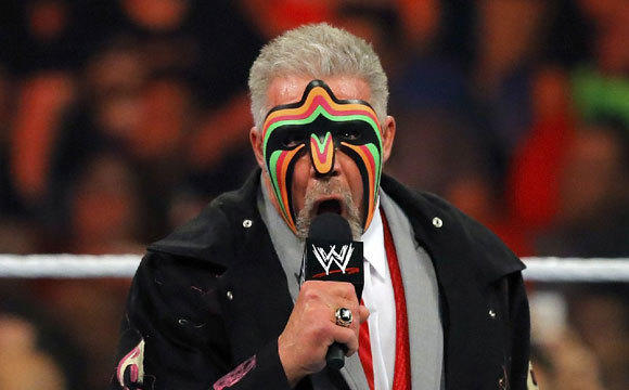 """The Ultimate Warrior addressing fans on """"Monday Night Raw"""" last week."""