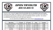 Ela Soccer Open Tryouts