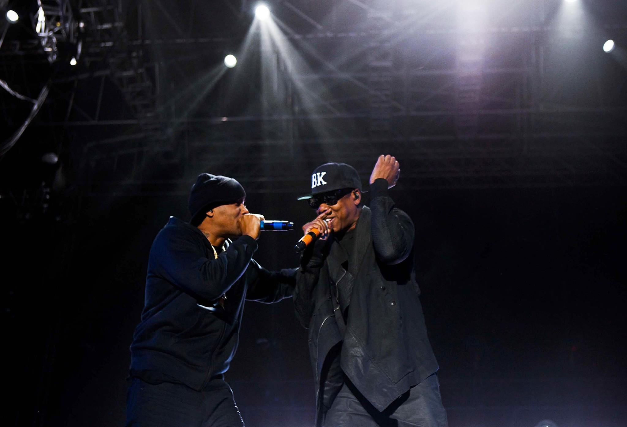Nas is joined by Jay Z at Coachella on Saturday.