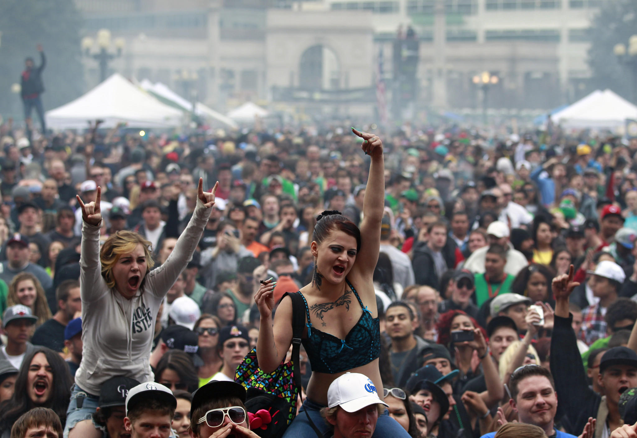 Tens of thousands turned out April 20 at last year's 420 Rally at Civic Center Park in Denver. Last year the event was marred by gunfire that injured three people.