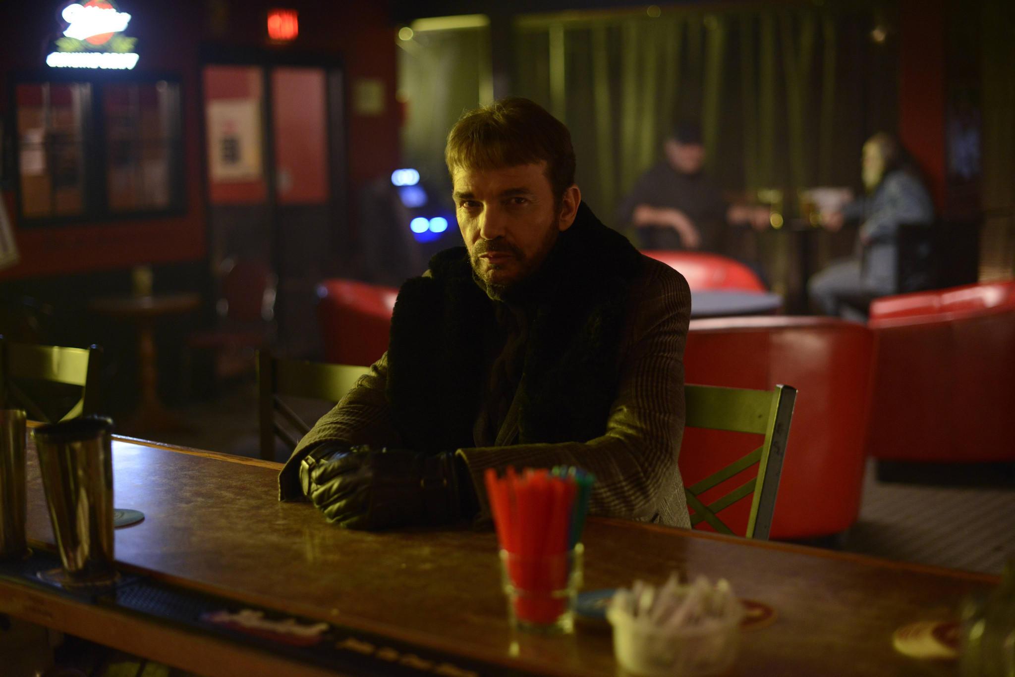 "Billy Bob Thornton as Lorne Malvo in ""Fargo."""