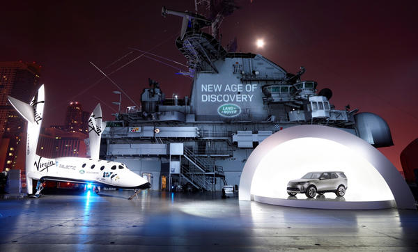 Land Rover used the aircraft carrier Intrepid in Manhattan to announce a new sub-brand called Discovery. In concert with Land Rover's high-end luxury Range Rover set, the Discovery lineup of vehicles will be more volume- and family-oriented, and will include the replacements for the current LR4 and LR2 SUVs.