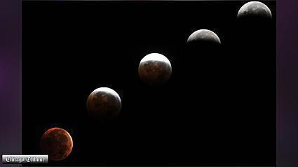 Blood moon lunar eclipse wows sky-watchers | Video