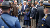Video: Brief, quiet ceremony held at Marathon bombing sites