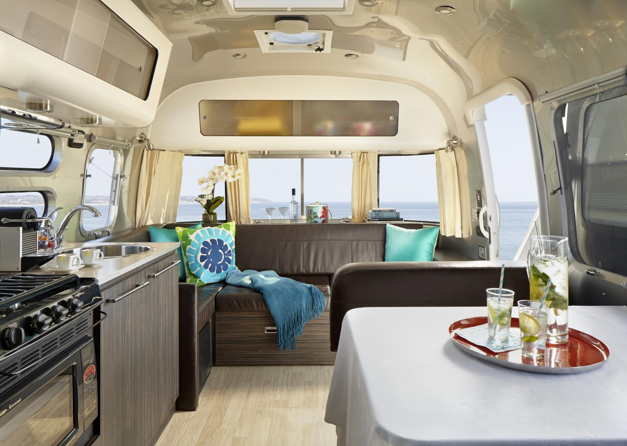 The Airstream mobile home that has been adapted as an AKA Beverly Hills suite.
