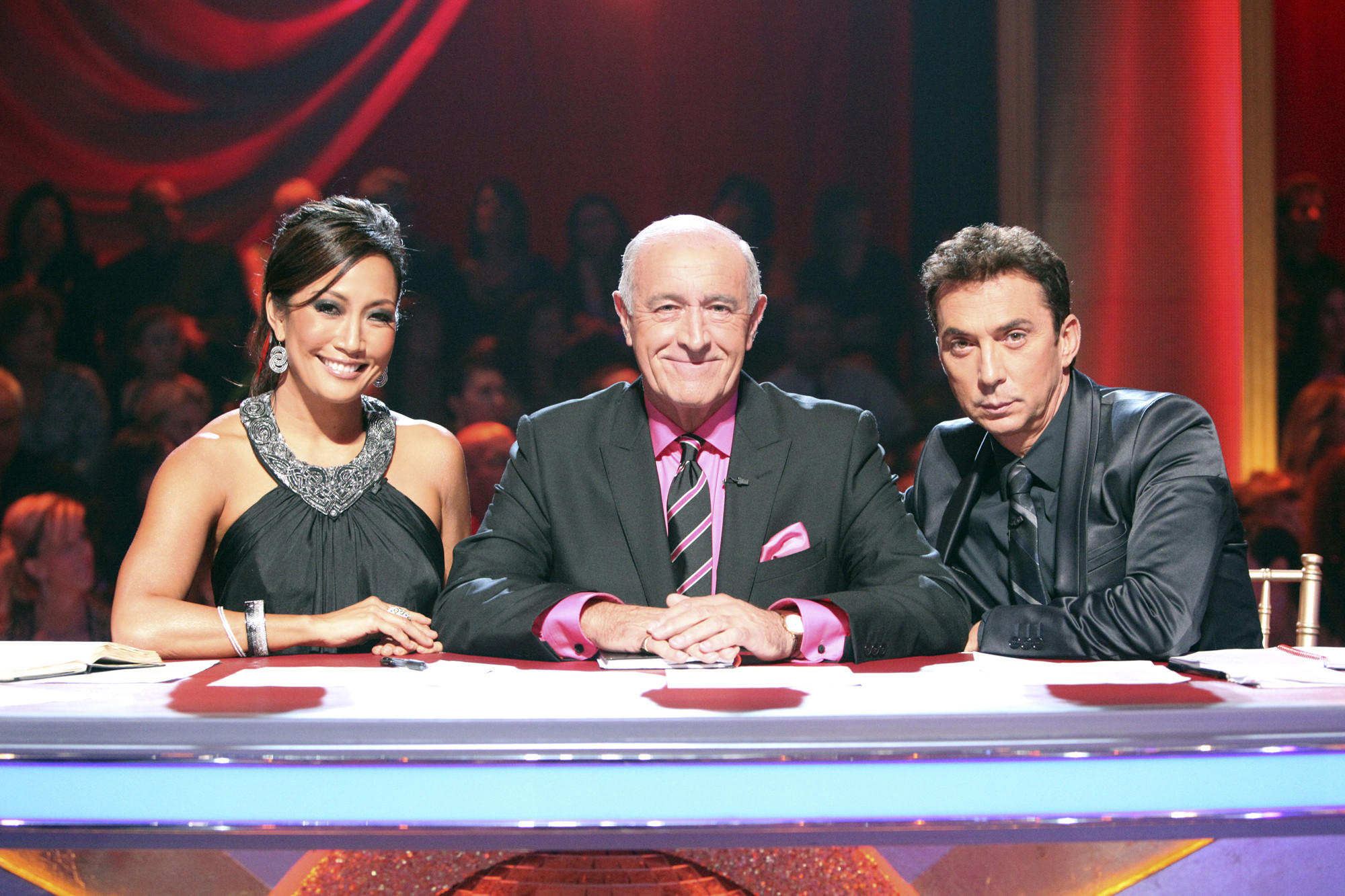 """""""Dancing With the Stars,"""" whose permanent judges are Carrie Ann Inaba, Len Goodman, center, and Bruno Tonioli, was tops with TV viewers Monday night."""