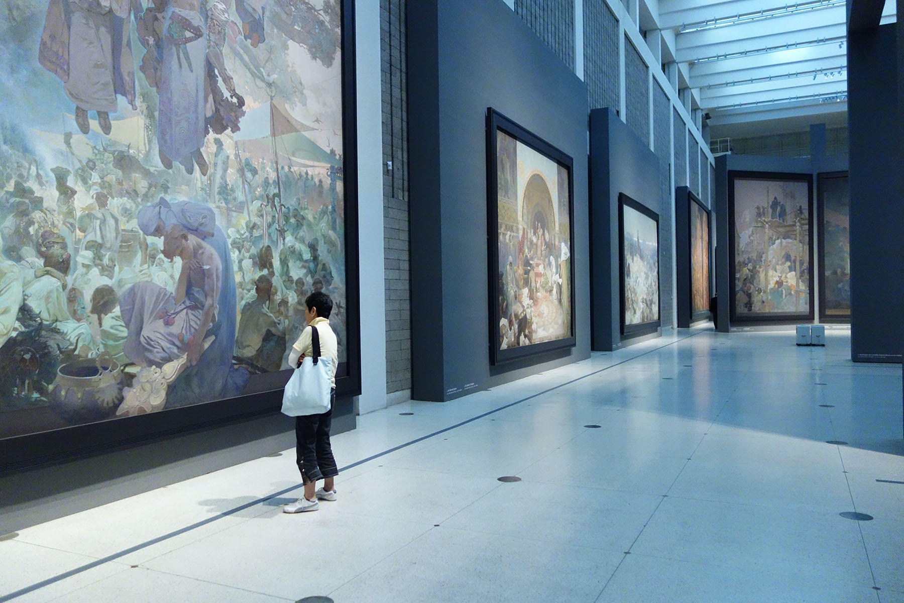 Viewing the masterful canvases of Mucha's Slav Epic is a forceful artistic experience.