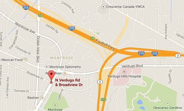 Glendale police officers spotted the large weapons and stopped a homeless man as he was walking along Verdugo Road near Broadview Drive in Montrose on Friday, April 11, 2014.