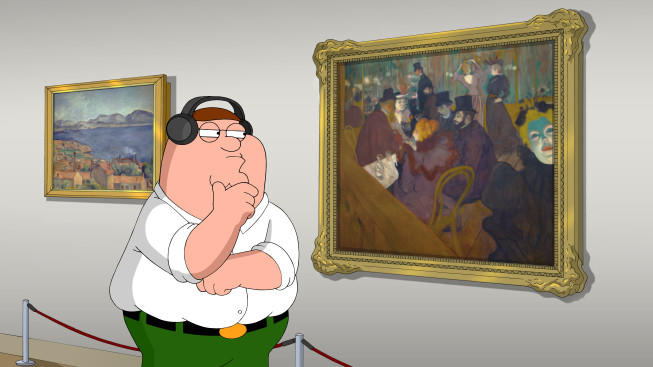 "Peter Griffin visits the Art Institute of Chicago on Fox's ""Family Guy."""