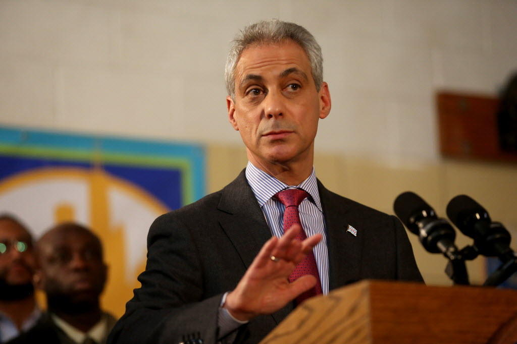 Mayor Rahm Emanuel, seen here last week, reported more than $7 million in his campaign fund.