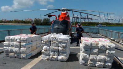 Coast Guard calls $300 million in seized cocaine one of its biggest hauls