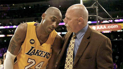 Trainer Gary Vitti suffers through a painful season with the Lakers