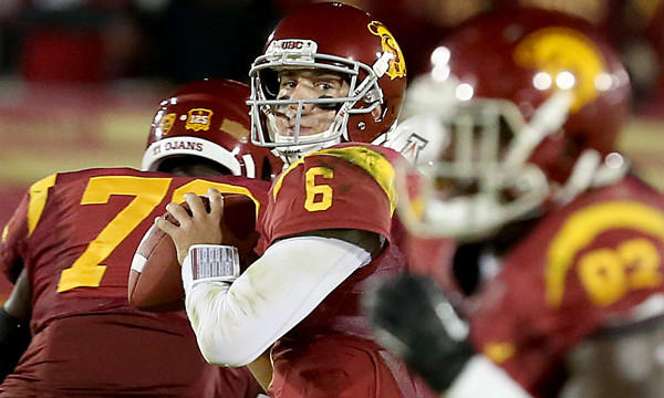 USC quarterback Cody Kessler looks to pass during a game against Arizona in October.