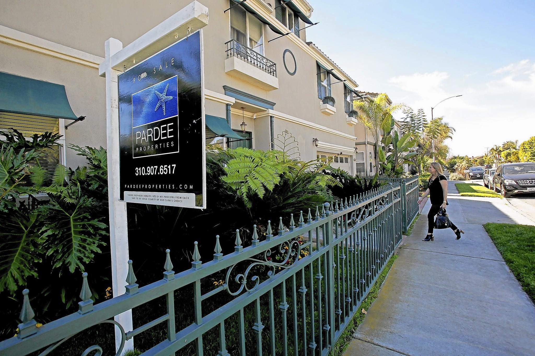 Housing costs in California have risen so high that they hurt recruitment, business groups say. Above, a home for sale in Venice in March.